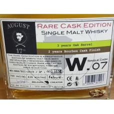 August 17th Rare Cask Edition Bourbon